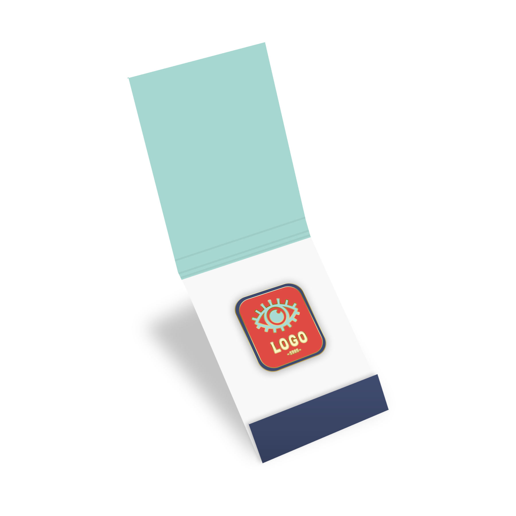 130297 matchbook enamel pin set 0 75 pin with full color matchbook