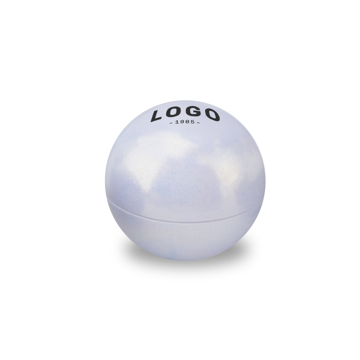130264 iridescent lip balm ball one color one location imprint