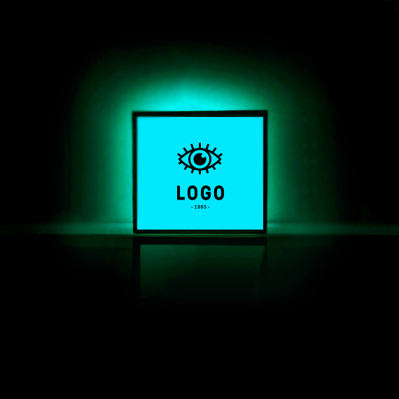 130249 led lightbox square black full bleed cutout