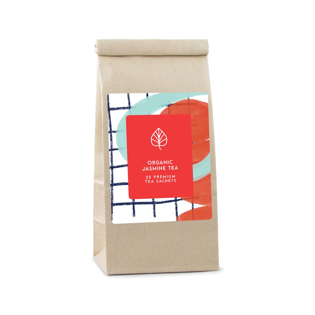 130230 large bag premium tea full color digital label