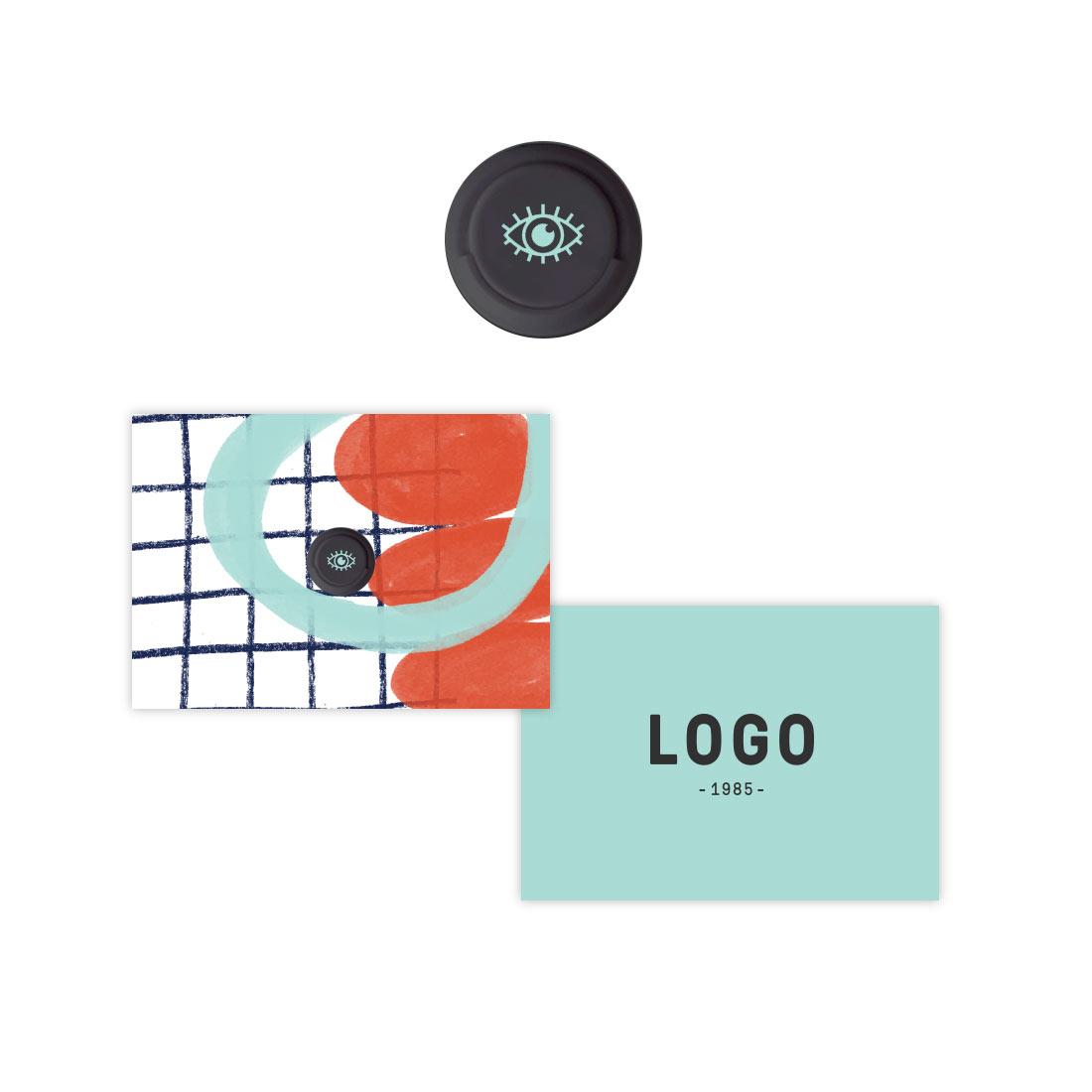 130221 peep webcam cover full color logo on webcam cover custom business card size packaging