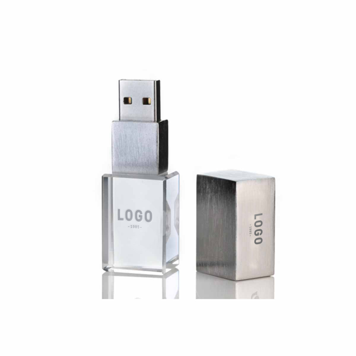 130216 acrylic flash drive laser engraving 2 locations