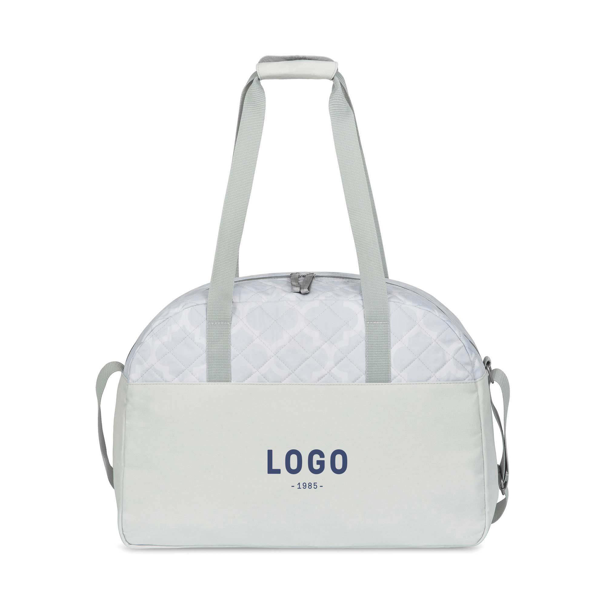 130187 rosalie quilted weekender bag one color imprint