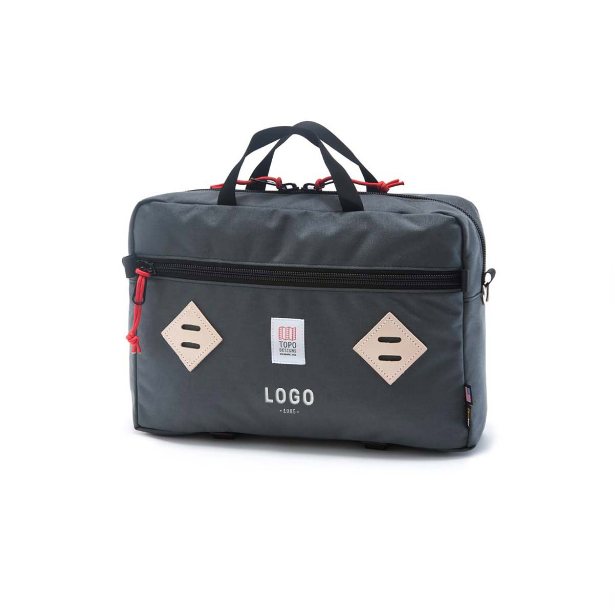 130165 mountain convertible briefcase one location embroidered