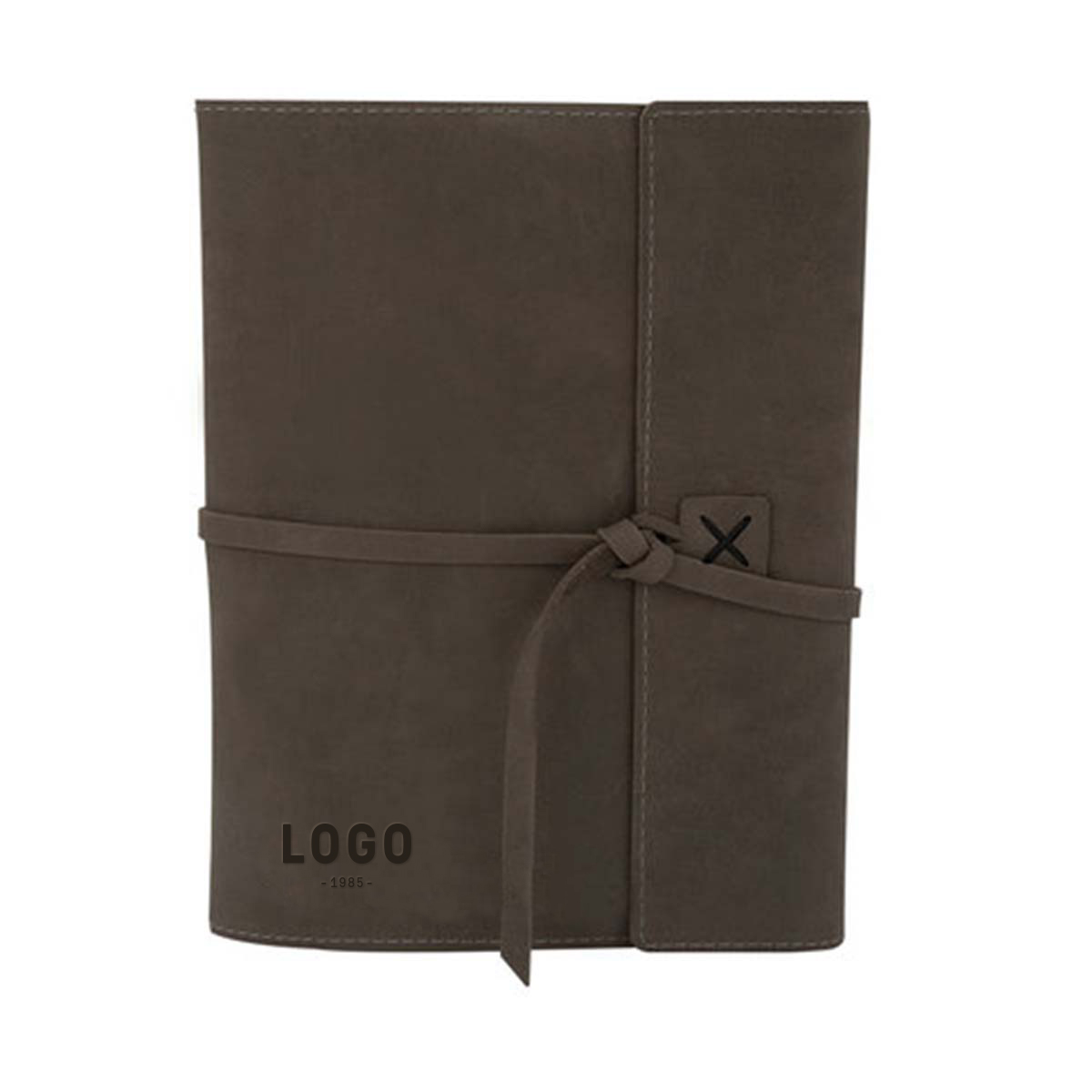 122716 leather composition book debossed one location