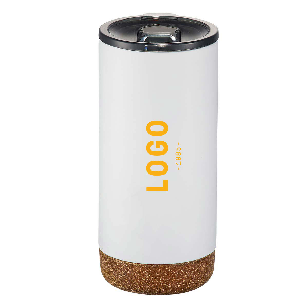 122701 cork vacuum tumbler one color imprint