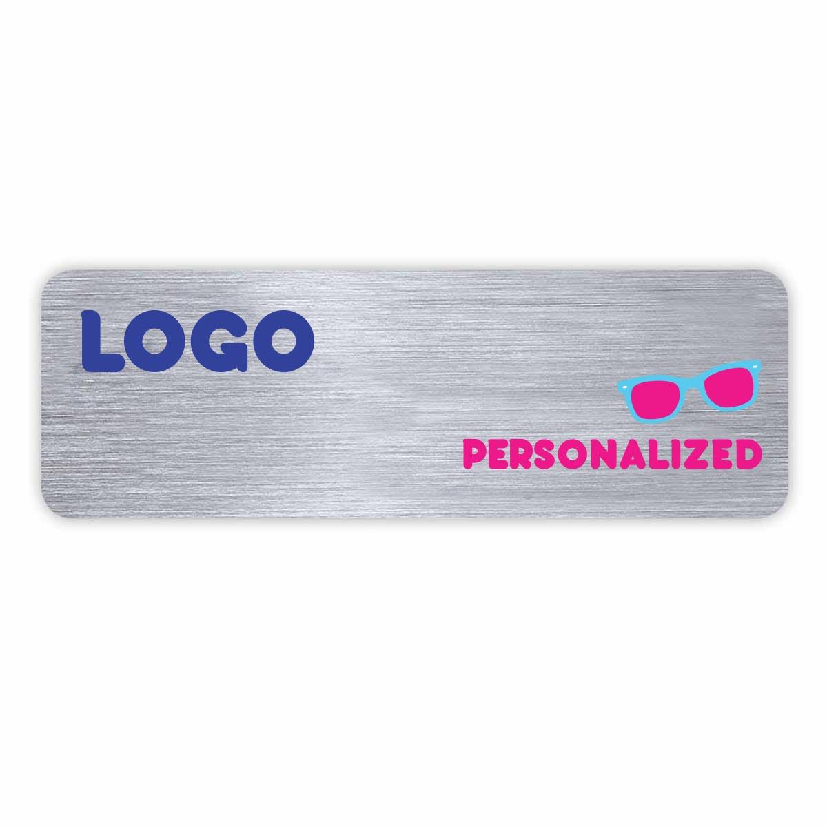 137926 custom metal badge full color one side magnetic backing