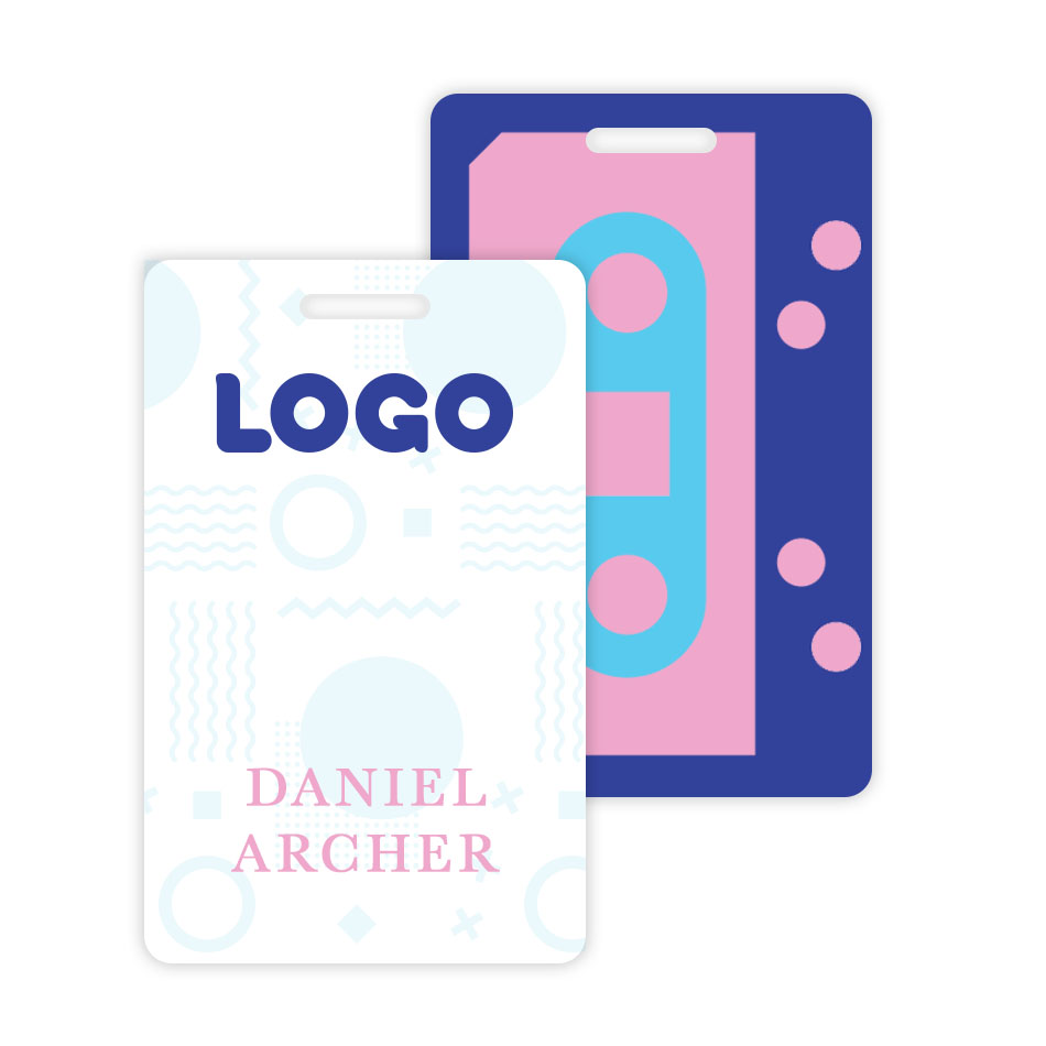 137914 name badge personalized full color front personalized