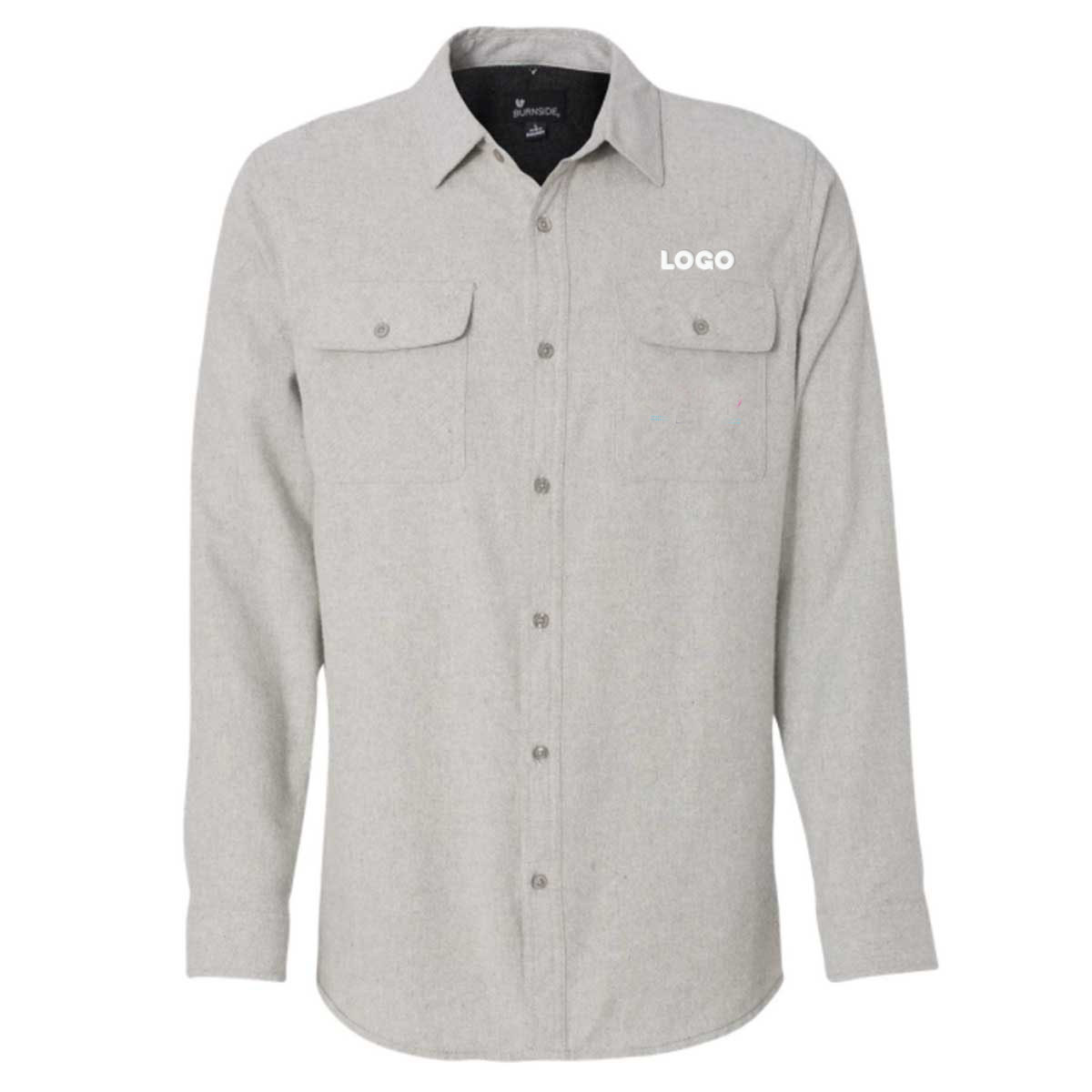 137903 flannel long sleeve shirt embroidered up to 4k stitches one location