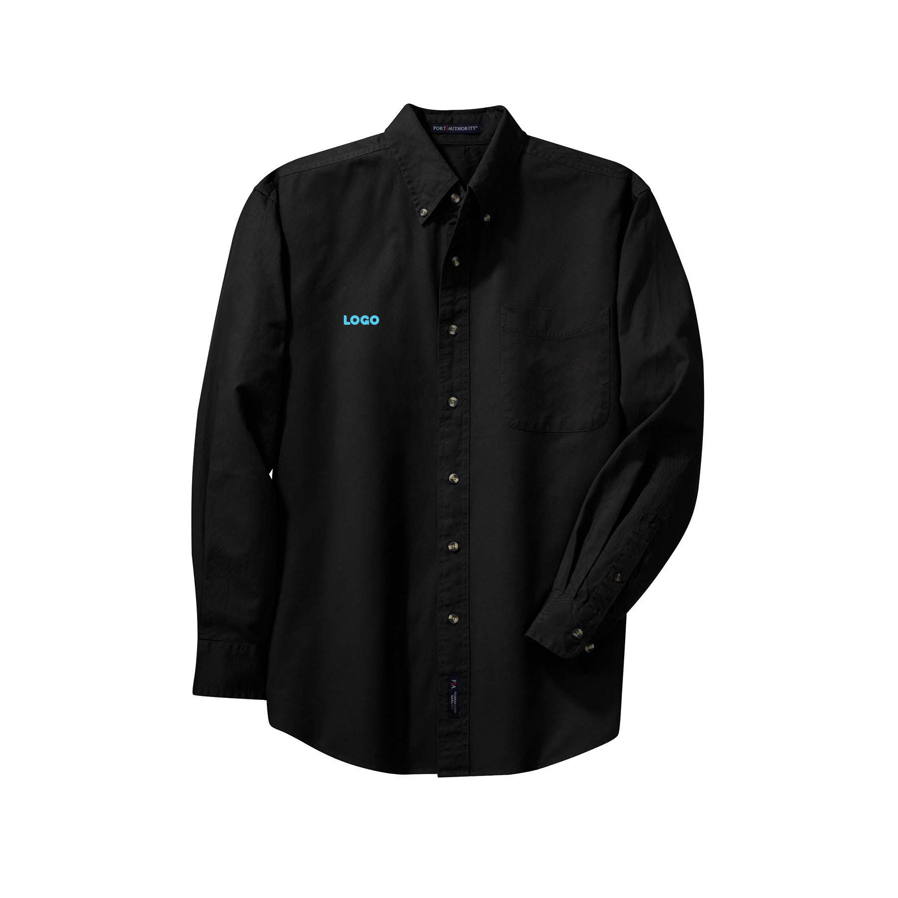 137902 long sleeve twill shirt one location embroidered up to 4k stitches