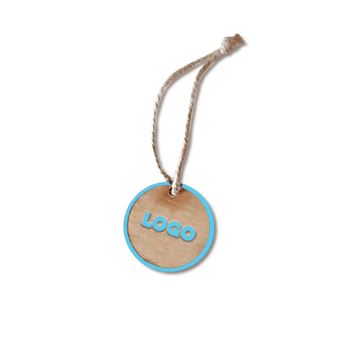 137889 wooden hangtag 1 5 one side laser engraved with ink