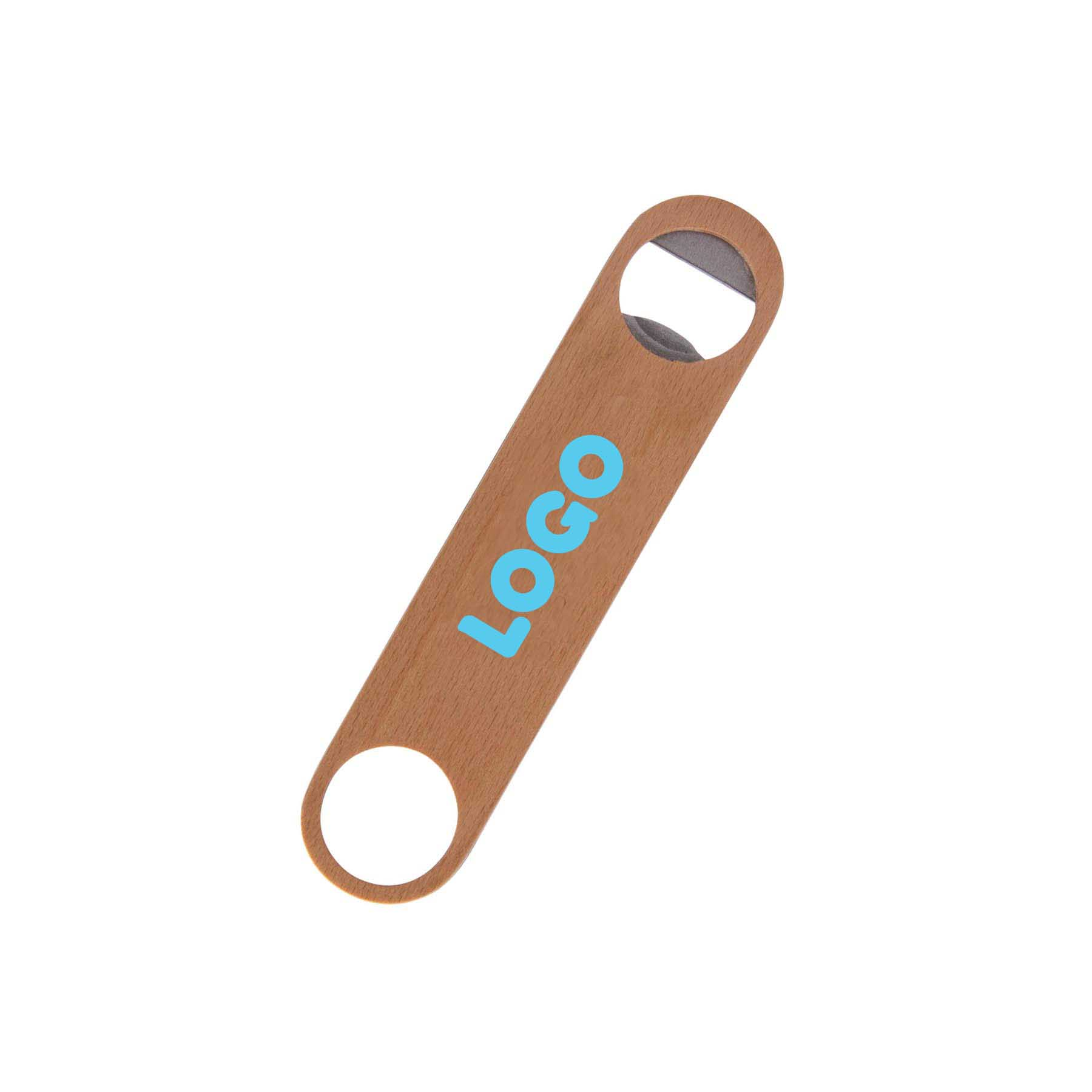 137885 wooden bottle opener one color one location imprint