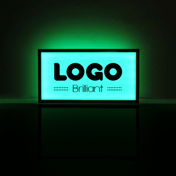 137209 led lightbox custom black full bleed cutout
