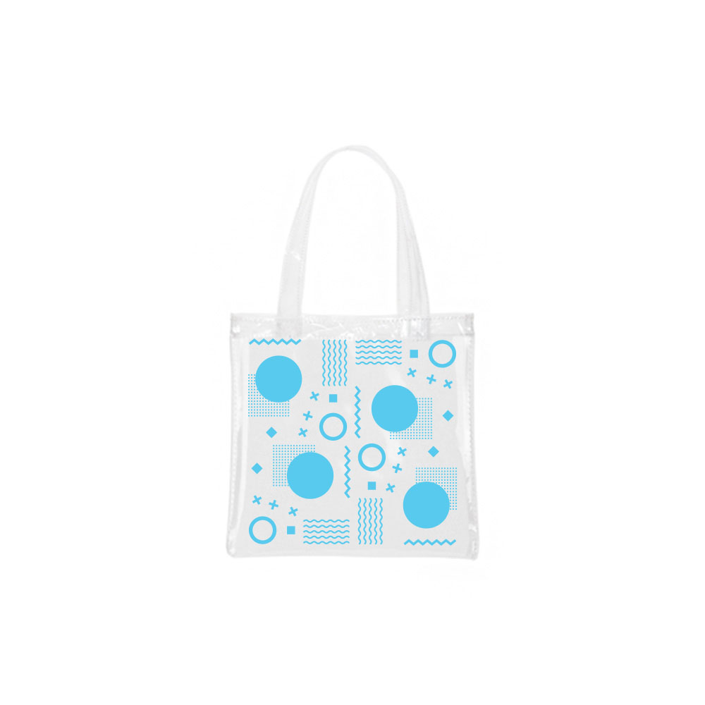 135166 tiny vinyl tote one color full bleed imprint