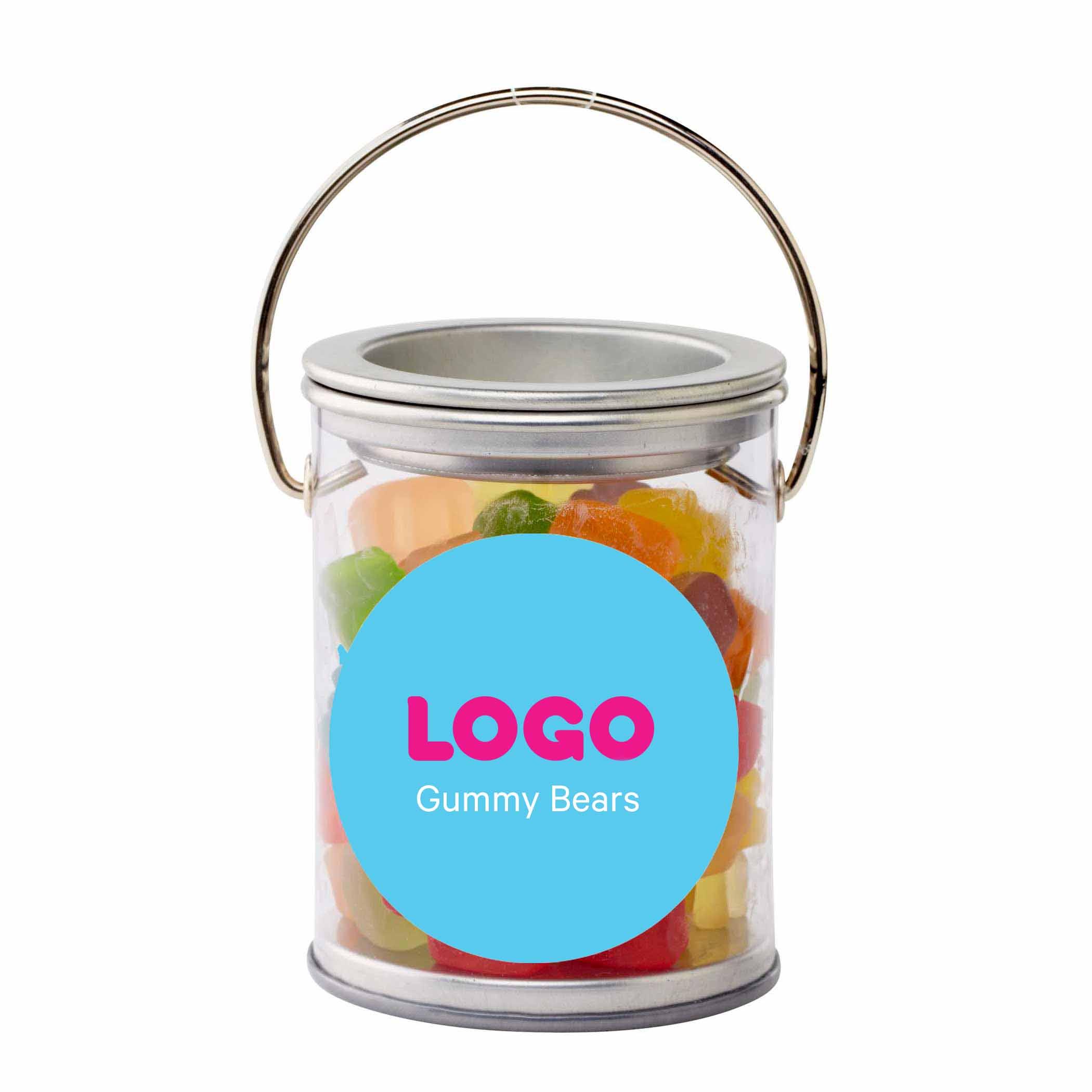 134852 small paint bucket treats full color label