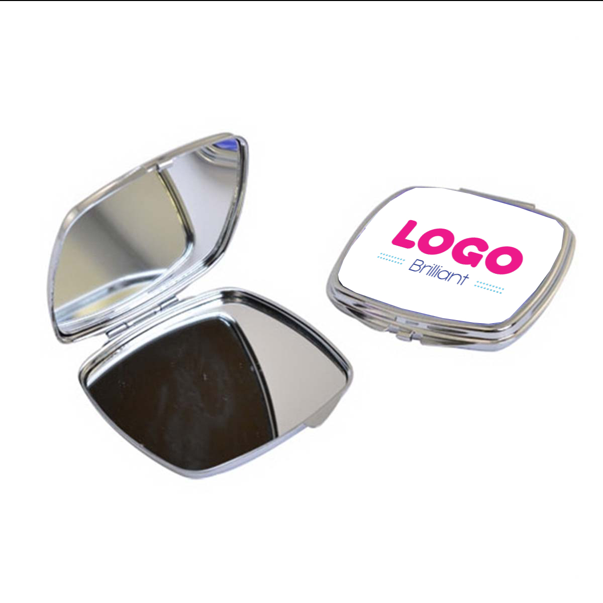 134847 square compact mirror full color imprint