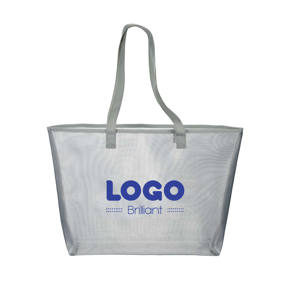 134832 mesh shopper tote one color one location imprint