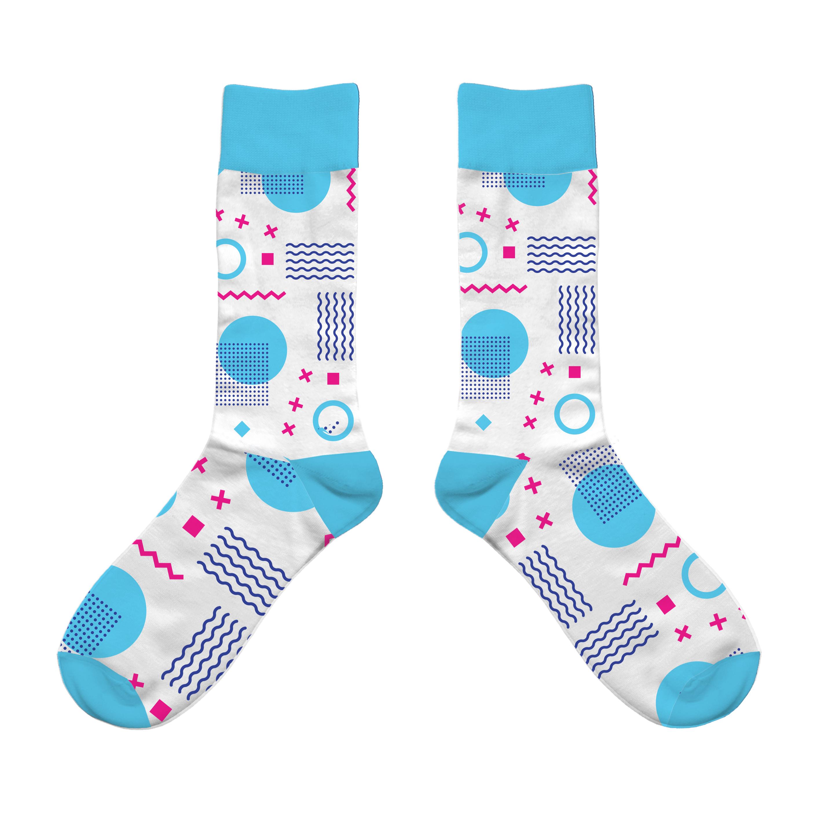 134763 color match woven socks