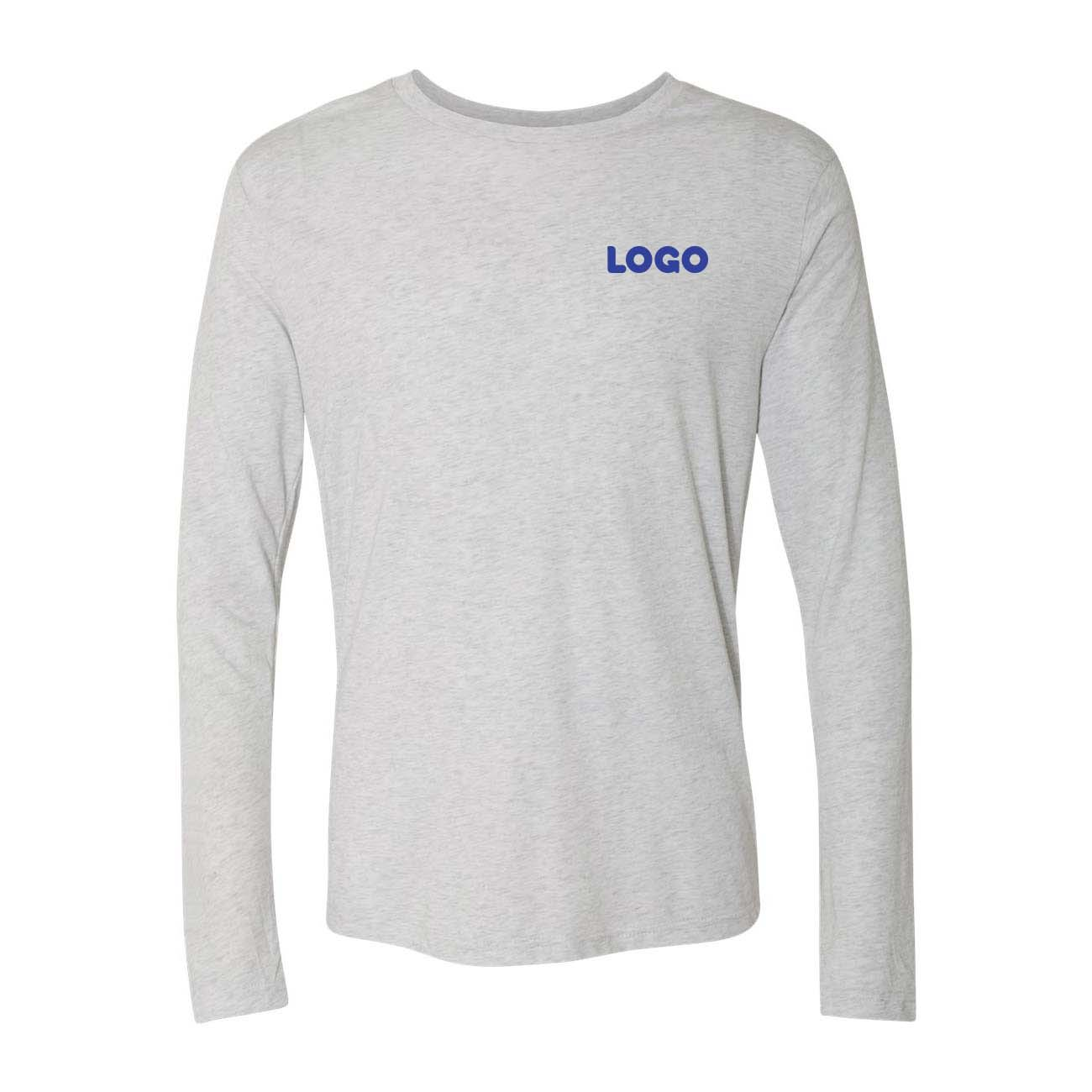 White tribled tee lognsleeve bril