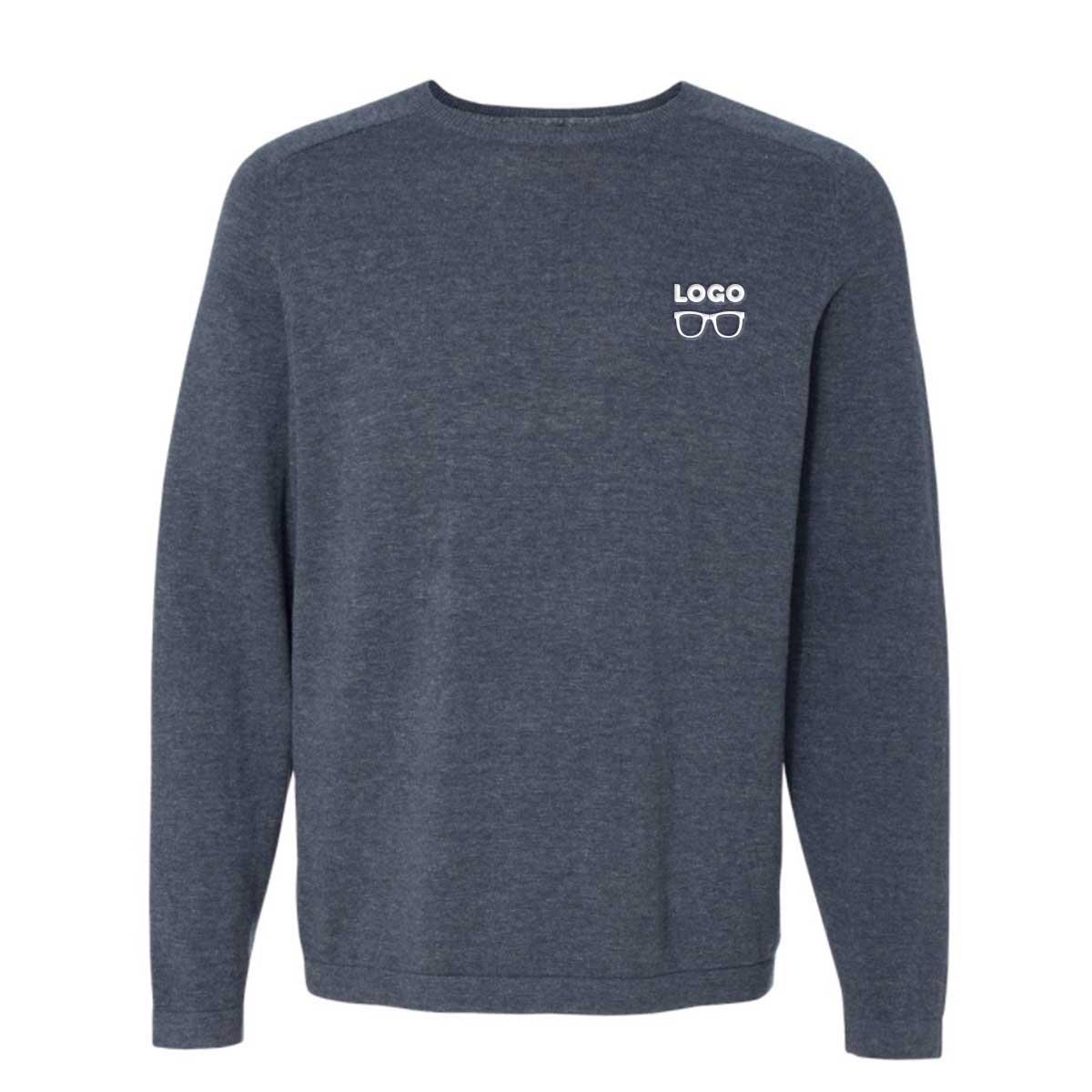 Brilliant crewneckcottonsweater denim