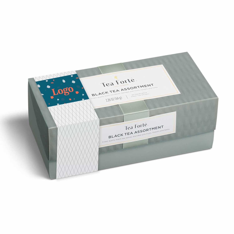 165865 tea tasting box full color band or insert