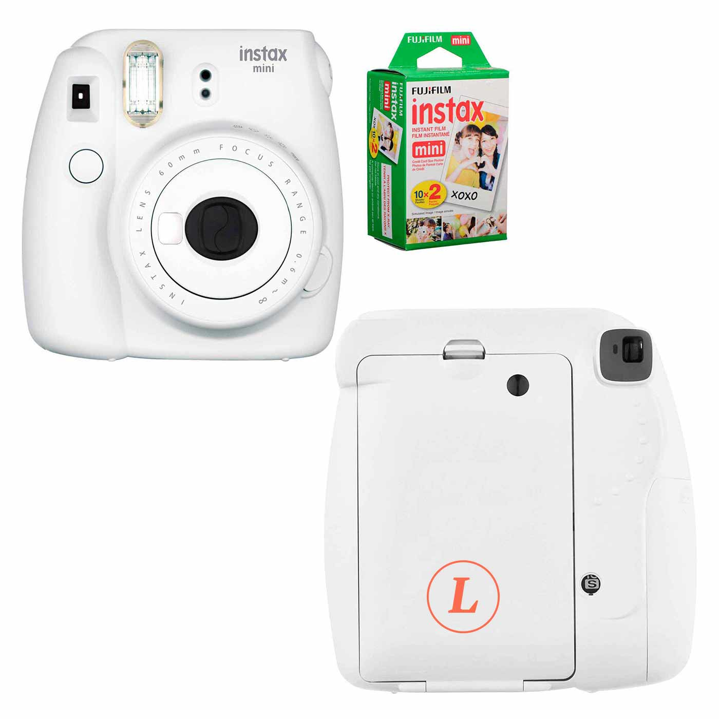 165513 instax mini 9 camera bundle one color imprint back of camera