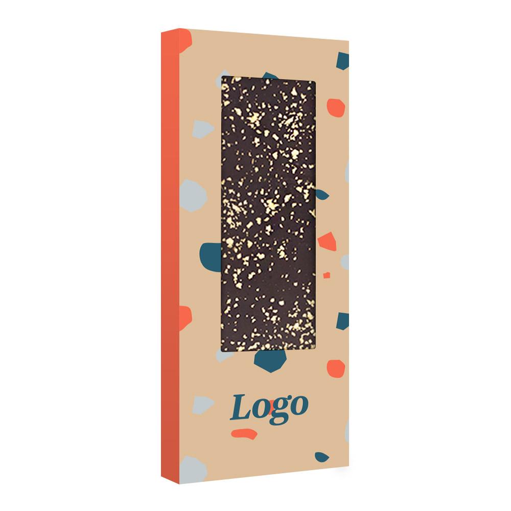 163140 23k gold flake belgian chocolate bar full color digital box