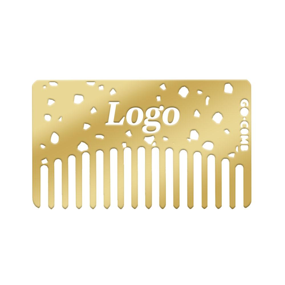 Brilliant brass wallet comb