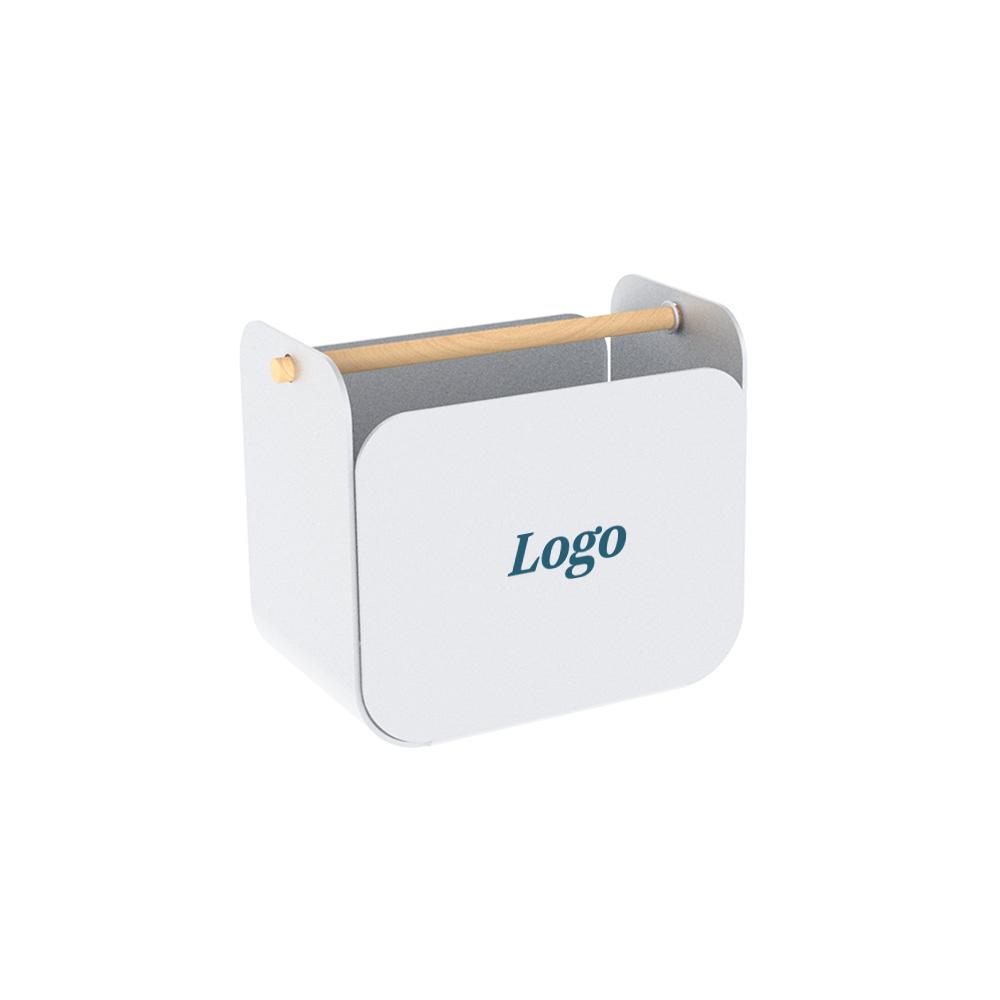 166537 leaf metal pen holder one color one location imprint