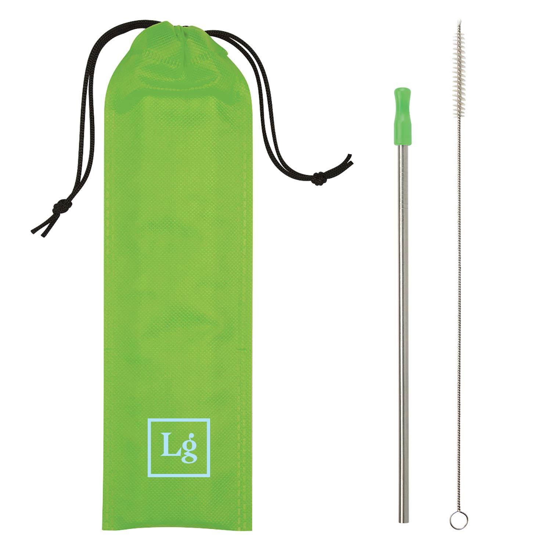 199916 color pop straw set one color imprint on bag