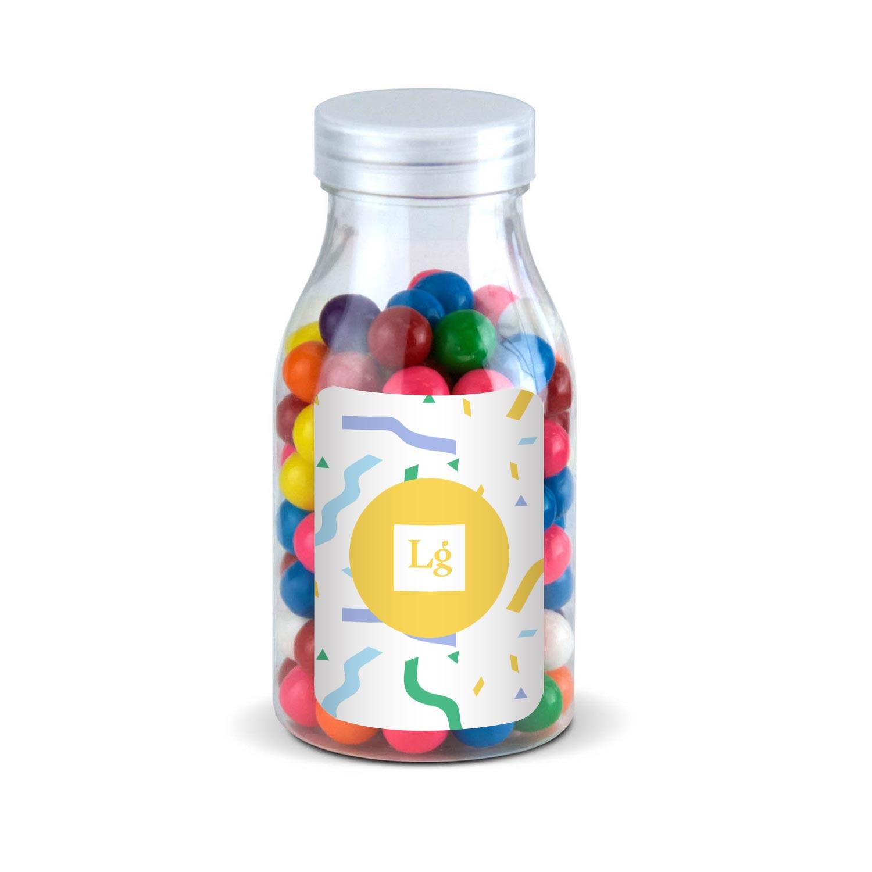 200618 candy treat bottle gum balls full color label