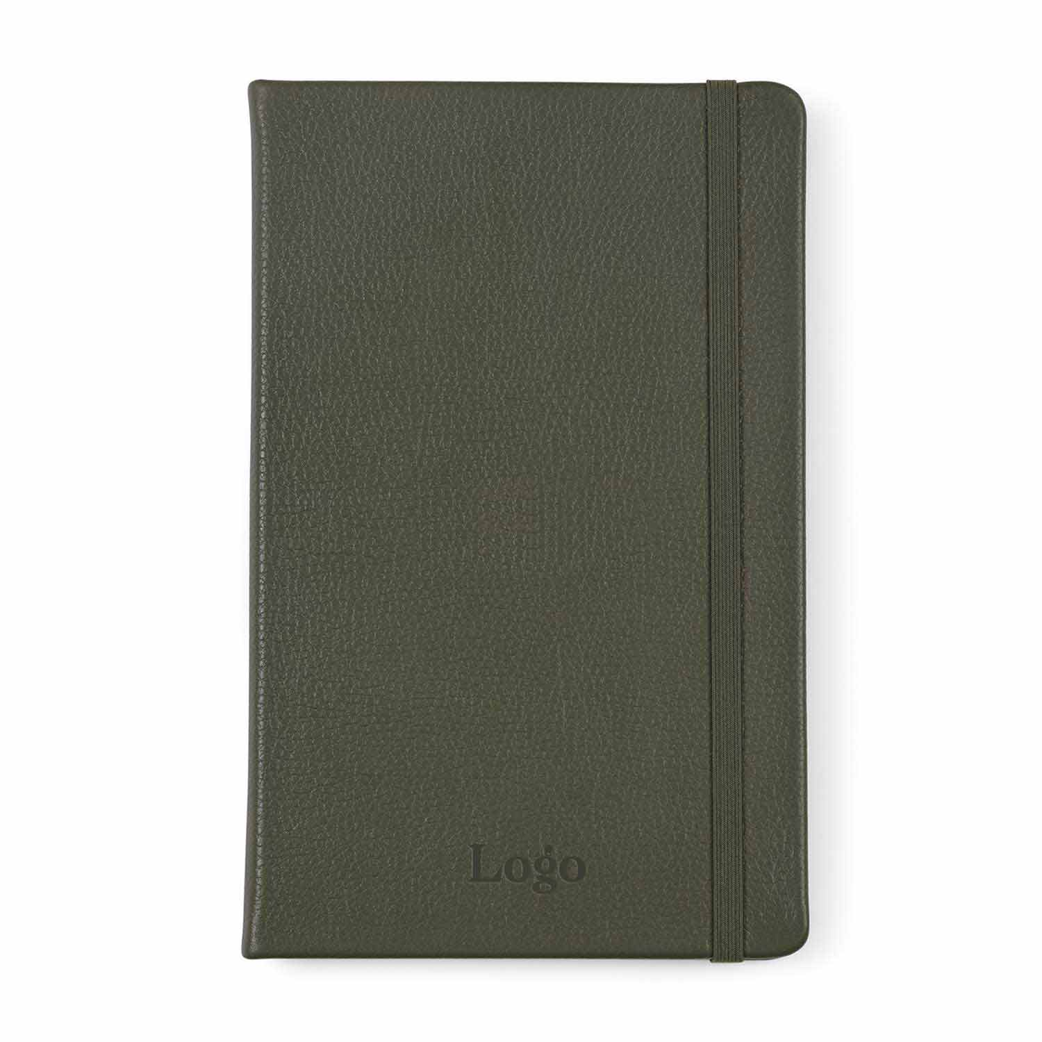 199976 leather ruled large notebook one location blind deboss