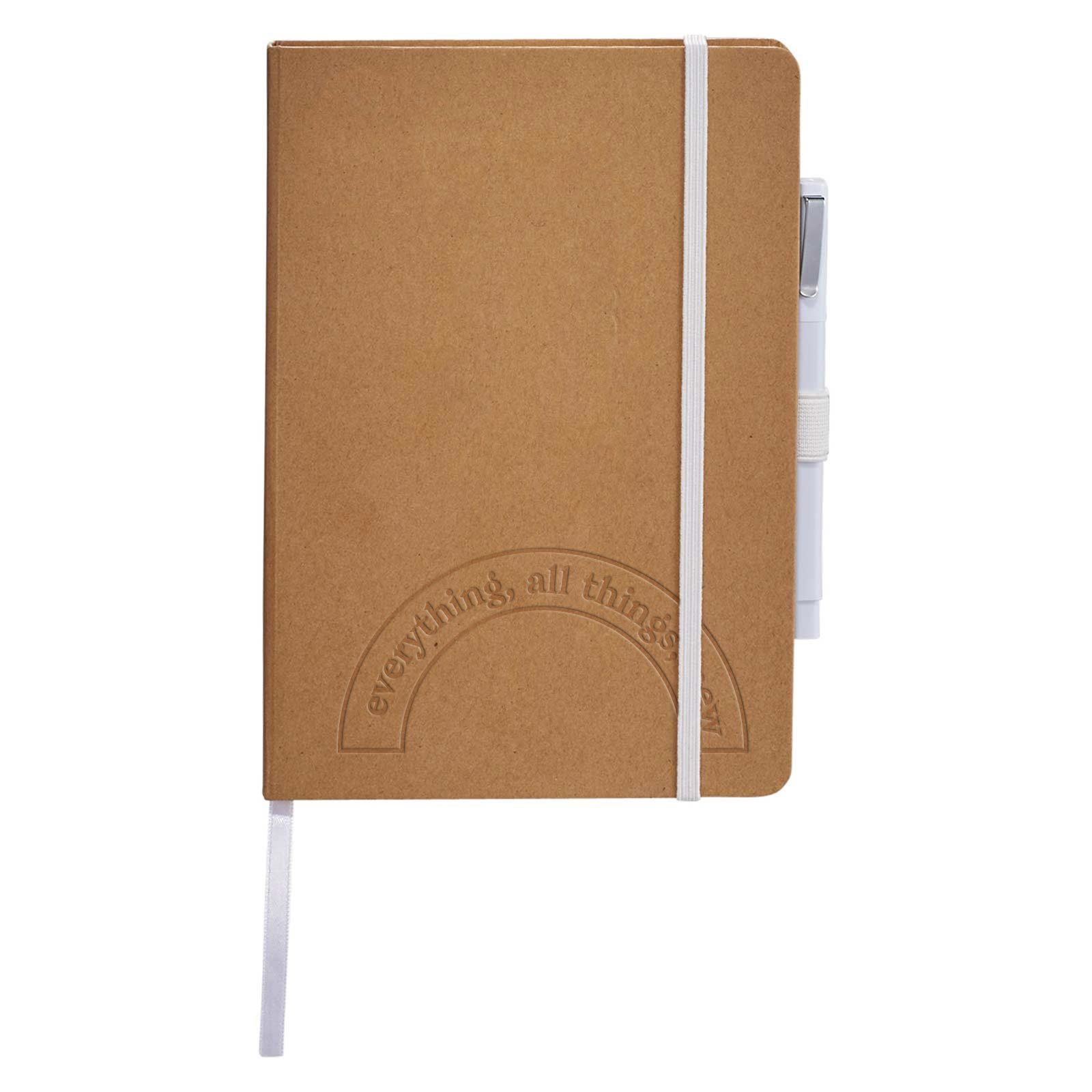 200652 eco colorpop journal set one color one location imprint or blind deboss