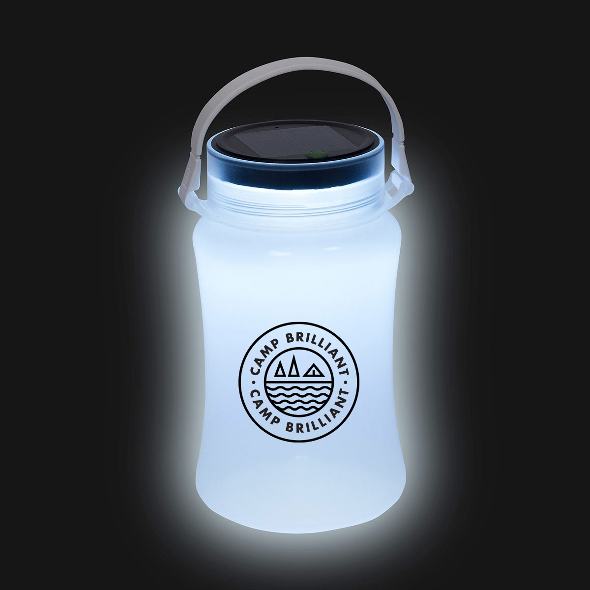 229234 foldable waterproof container with solar light one color only one location imprint