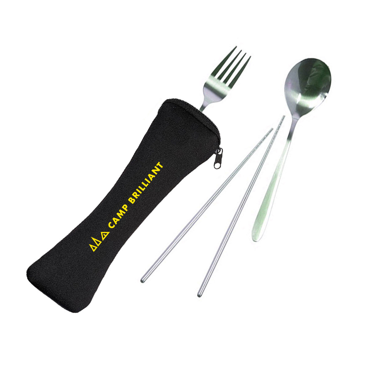 229548 travel cutlery set one color one location imprint