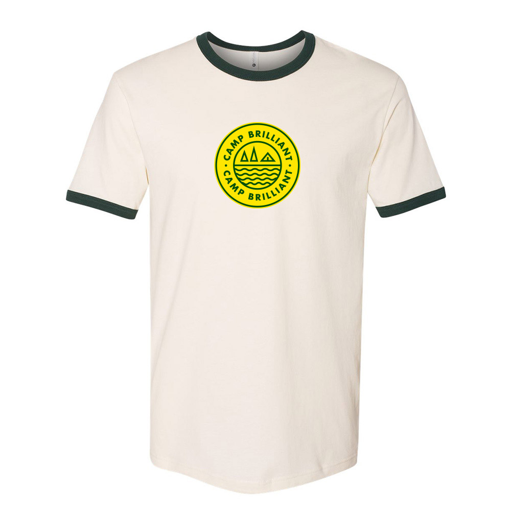 229231 throwback ringer tee one color one location imprint