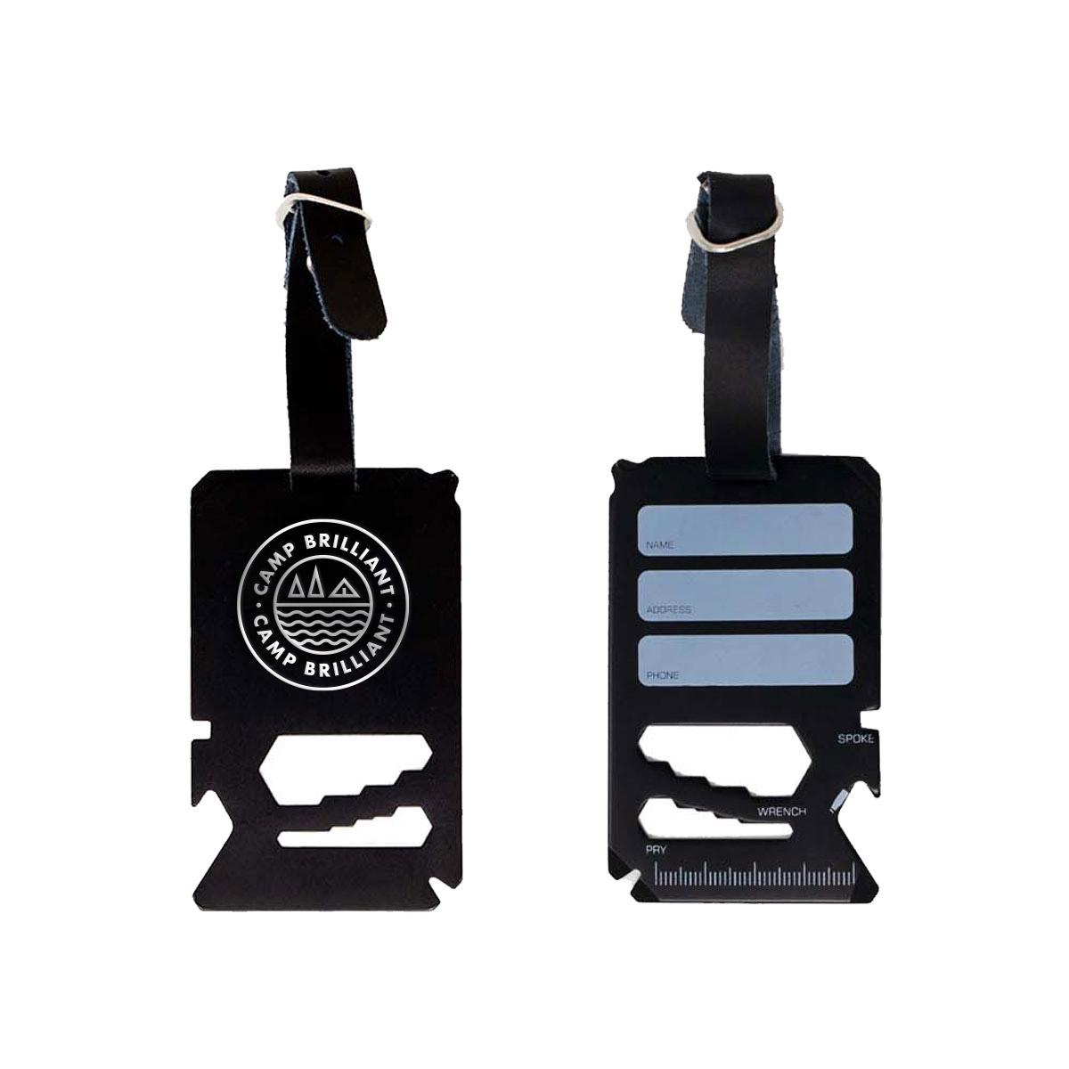 229160 multi tool luggage tag laser etched one location