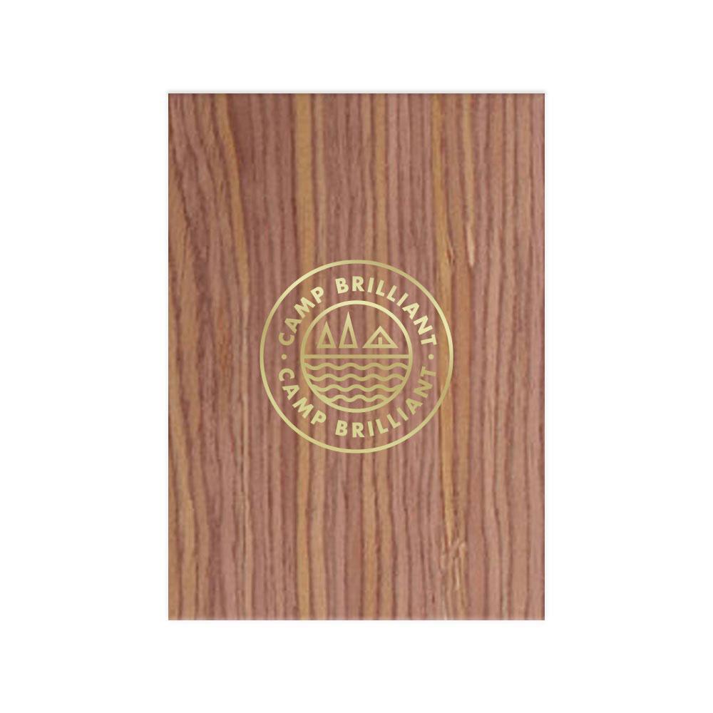 229587 wood grain flex notebook one color foil stamp