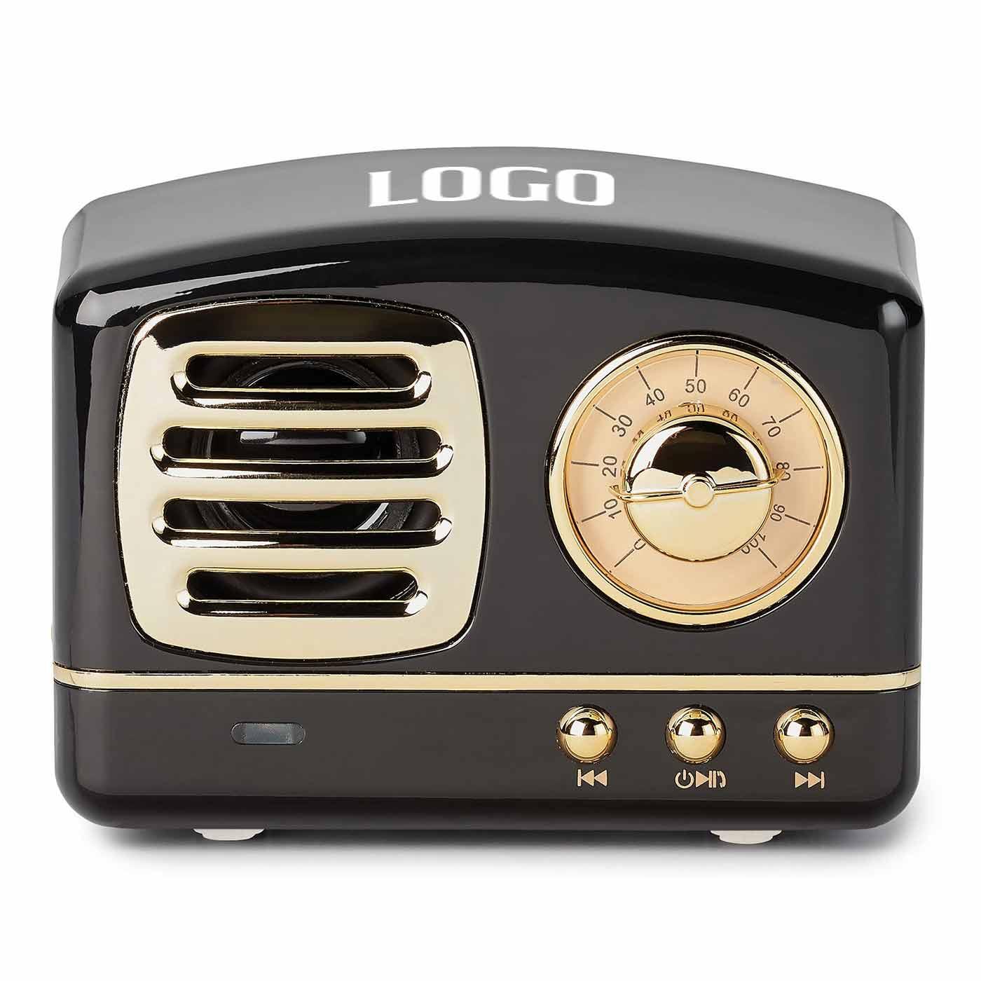 236104 trevor retro wireless speaker one color screenprint on top