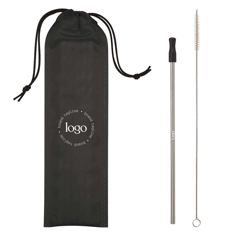 243687 color pop straw set one color imprint on bag
