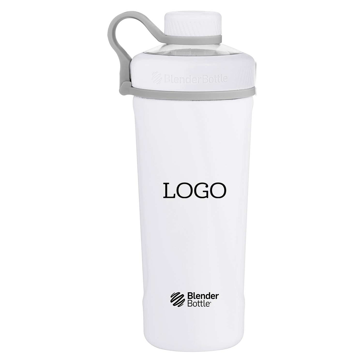 242237 26 oz radian shaker one color imprint on front one location
